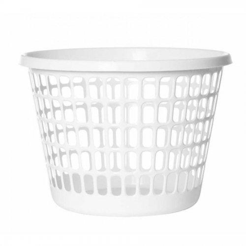 A Plast Team mosodakosár, kerek 32l fehér 1009