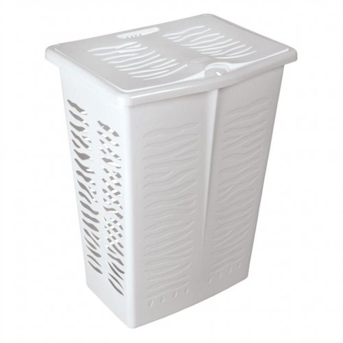 Branq négyszögletes mosókosár Zebra 42l fehér 1403