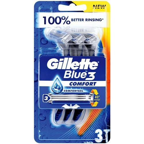 Gillette Blue3 Comfort Borotválkozó gépek 3 db